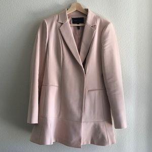 BCBGMAXAZRIA blazer dress in blush